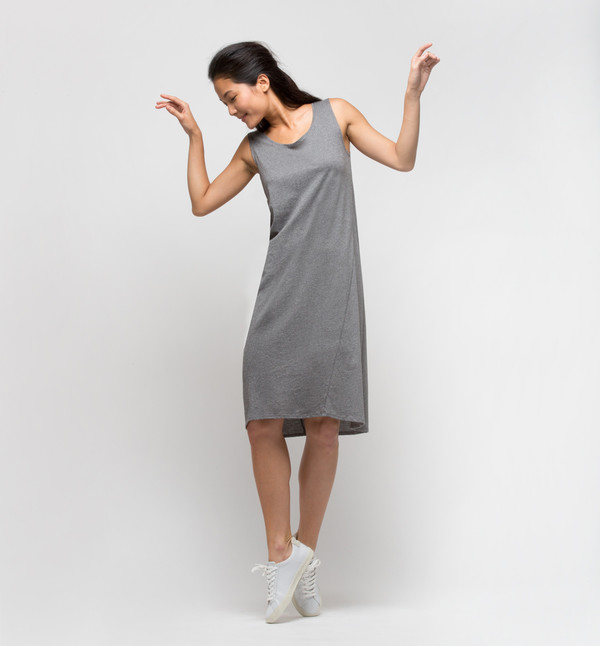 Kowtow Building Block Singlet Dress Gray Marle