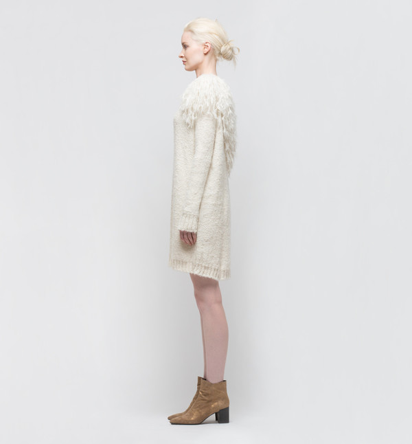 Laura Siegel Sweater Dress Ivory