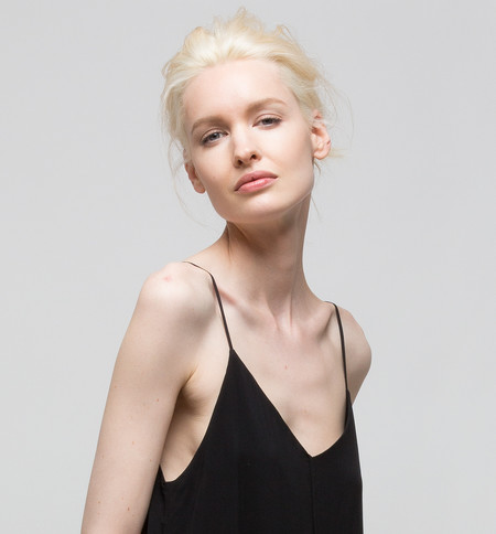 VOZ Double Layer Slip Dress Black