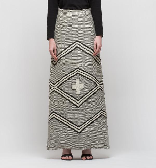 VOZ Ojos Skirt Ivory/Black