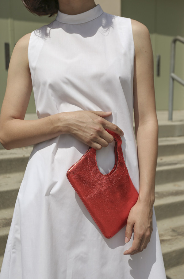 Rachel Comey Clover Clutch in Poppy Foil