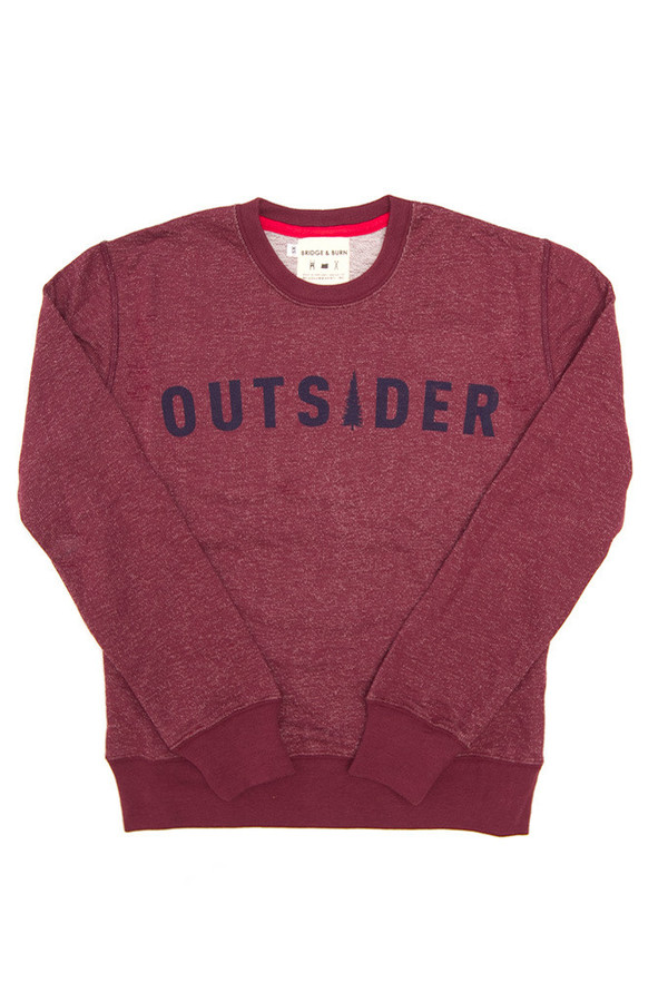 Bridge & Burn Columbiaknit Women's Outsider Sweatshirt Burgundy