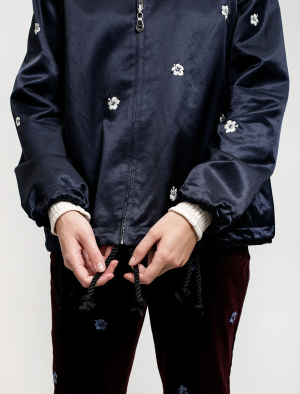 Trademark Reversible Souvenir Jacket Navy