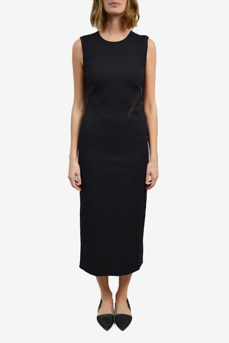 Opening Ceremony Thalia Puckered Dress - Black