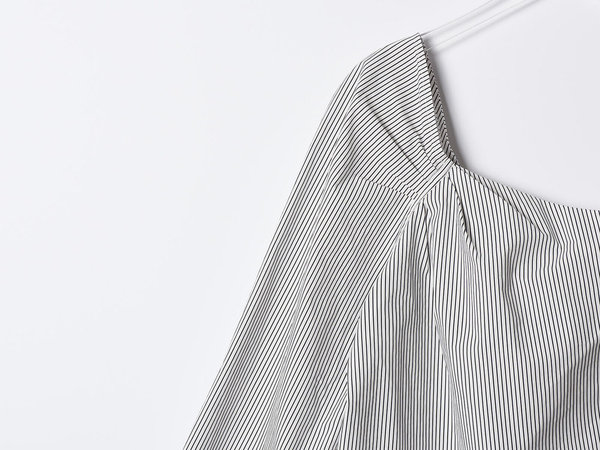Alasdair One Shoulder Cotton Stripe Top
