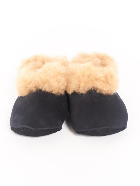 Ariana Bohling Alpaca Scuff Slippers Black