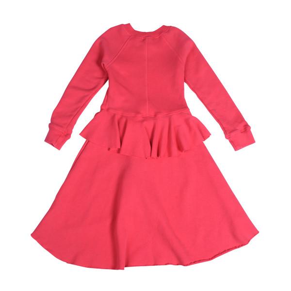 Kid's Mimobee Poppy Peplum Dress - Berry Berry