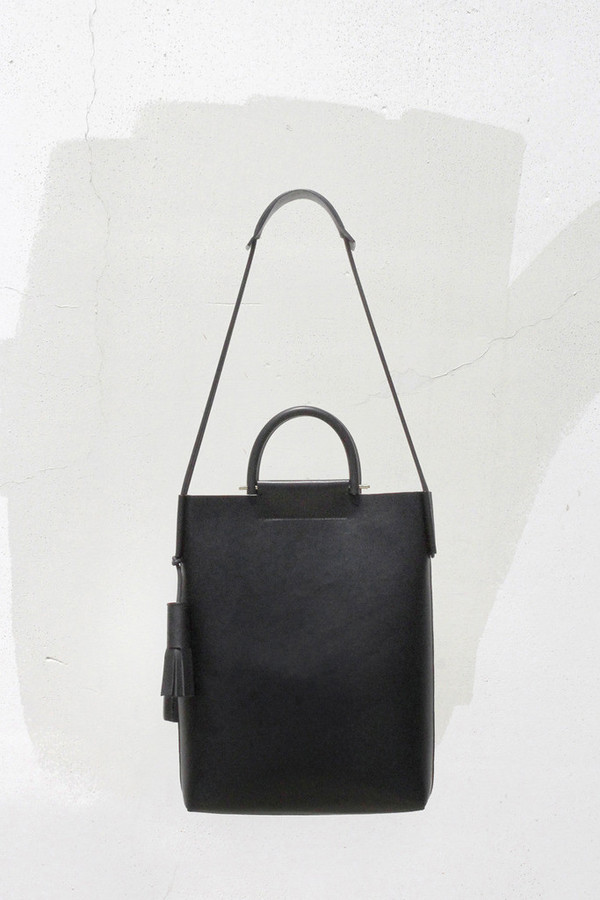 Building Block Smooth Leather Business Bag