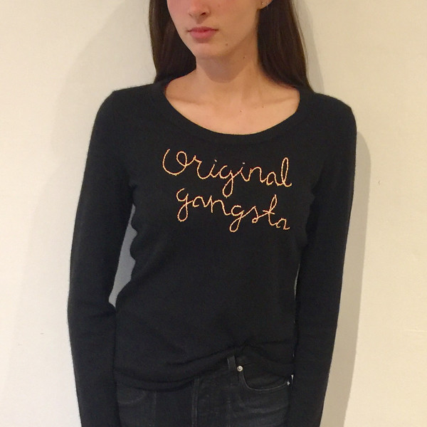 Lingua Franca NYC Cashmere Sweater - Original Gangsta