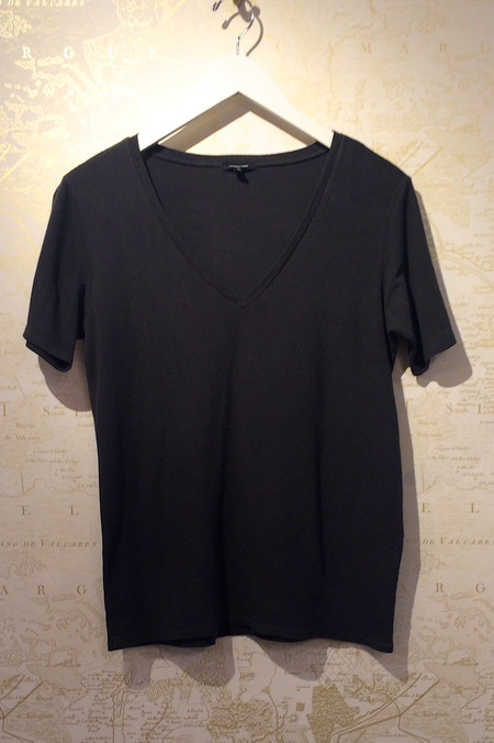 R13 Knit Low V Tee