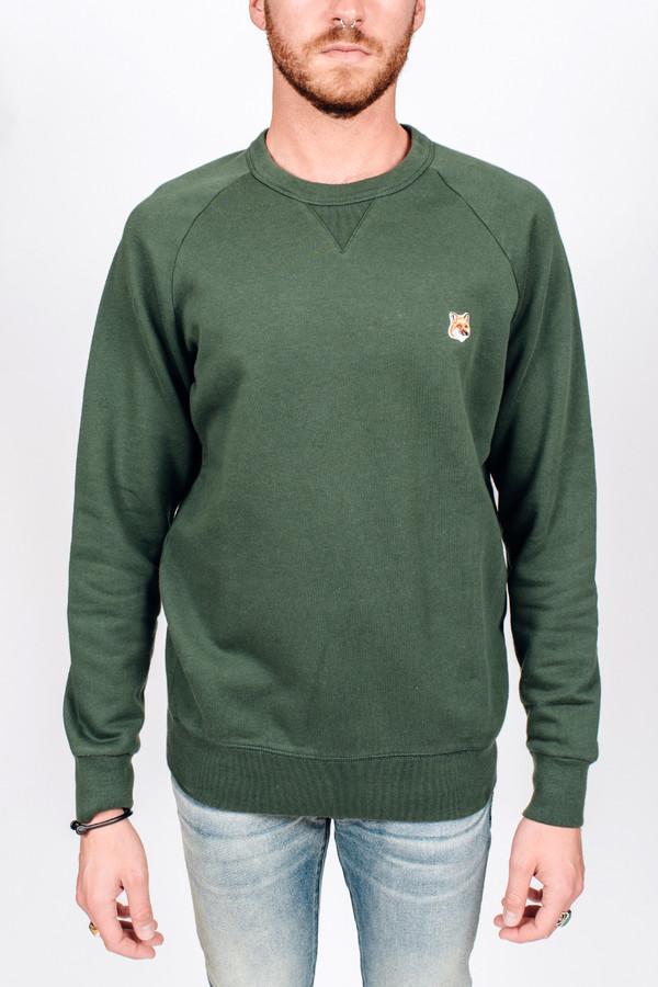 Men's Maison Kitsune Fox Head Patch Sweatshirt