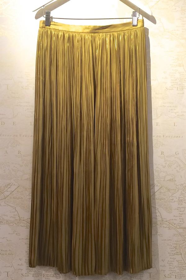 Tibi Long Pleated Flume Skirt