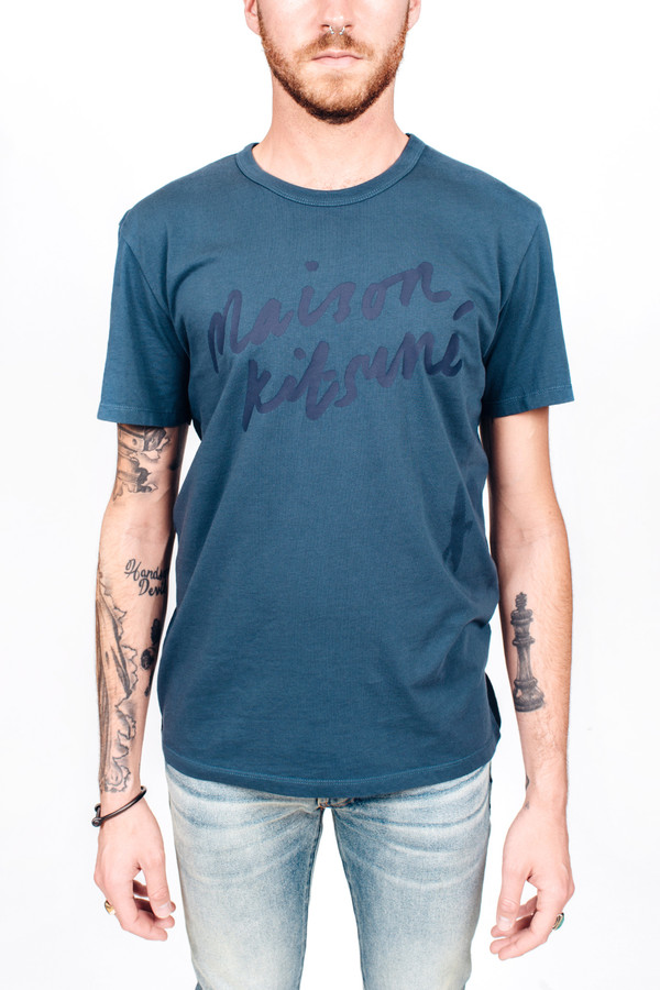 Men's Maison Kitsune Handwriting Tee