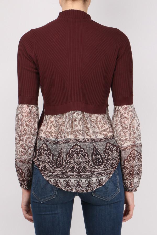 Veronica Beard Moon Mixed Media Sweater