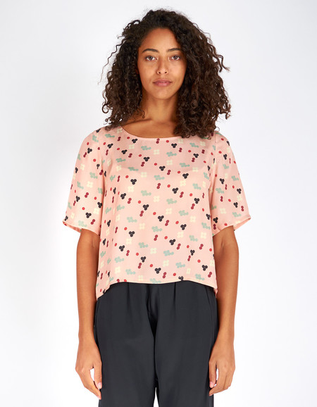 Dusen Dusen Yes Tee Pink Five Dot