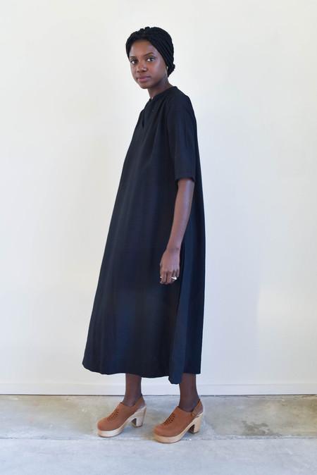 Sunja Link Gathered Yoke Dress in Black