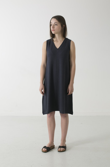 GOOD STUDIOS HEMP JERSEY ALINE V TANK DRESS