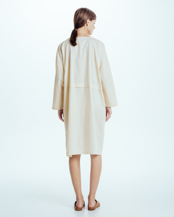 Revisited Matters Raincoat Dress in Cream