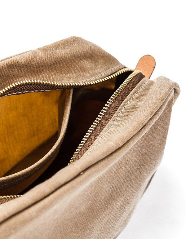 Tanner Goods Drifter Dopp Kit Waxed Field Tan