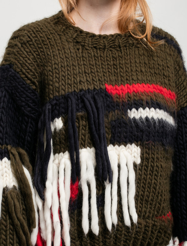 Christopher Raeburn Womens Hand Knit Shaggy Jumper