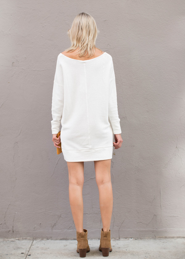 Bobi Wide V-Neck Cotton Tunic/Dress