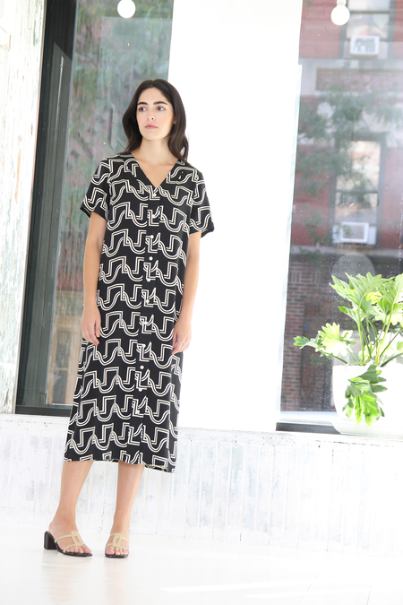 DUSEN DUSEN | DUO WEAVE LONG JERSEY DRESS