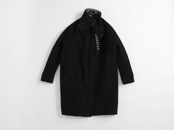 ffiXXed Collar Coat - Black