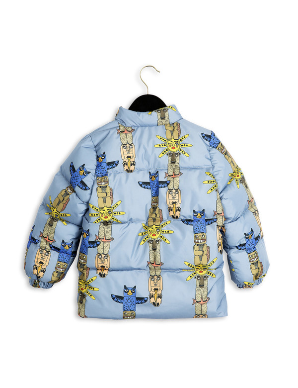 Kid's Mini Rodini PUFFY TOTEM JACKET - BLUE