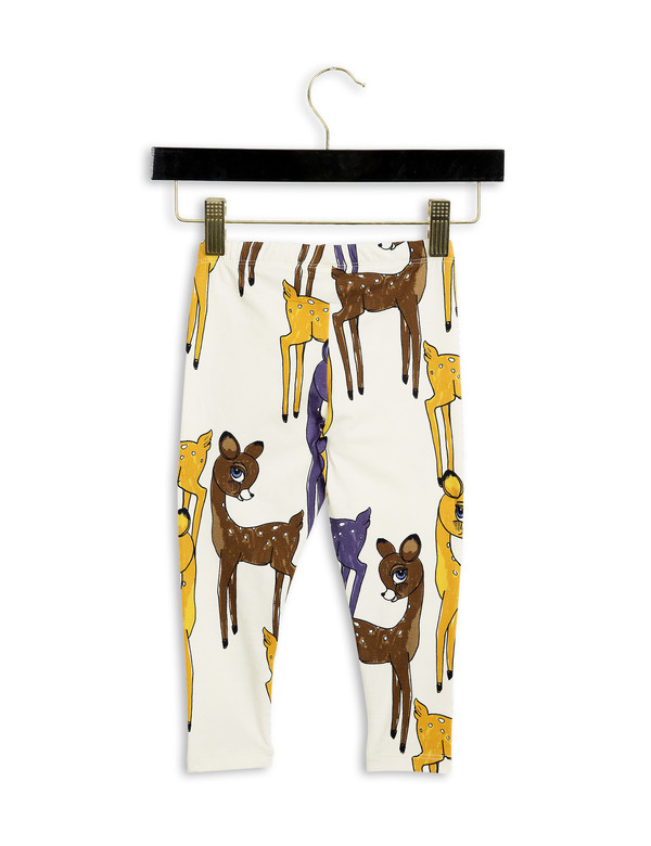 Kid's Mini Rodini ROE DEER LEGGINGS - BROWN