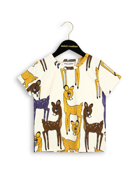 Kid's Mini Rodini ROE DEER T-SHIRT - BROWN