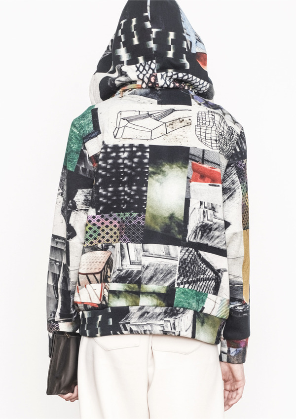 Berenik OUTERWEAR DIGITAL COLLAGE PRINTED HOODIE