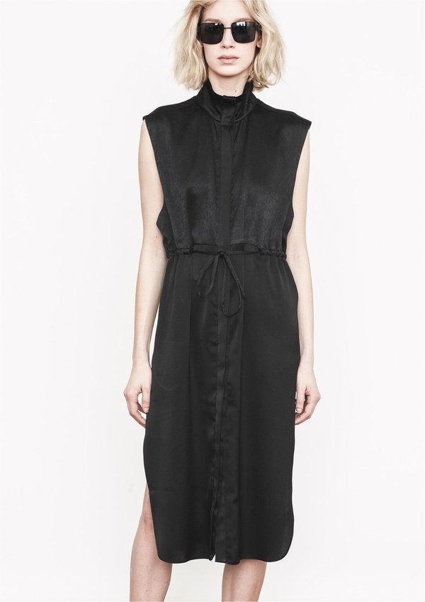 Berenik DRESS - VEST BLACK SHINY/MATT
