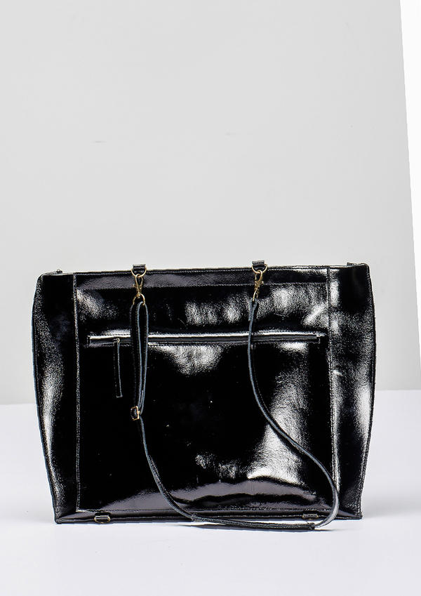 Berenik LEATHER BAG/BACKPACK COW LEATHER BLACK PATENT