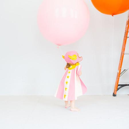 Lovelane Designs Flying Super Hero Costume in Pink