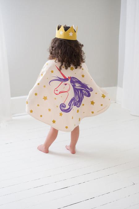 Lovelane Designs Unicorn Cape in Purple Gold & Pink