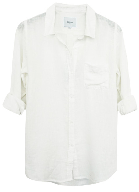 RAILS CHARLI LINEN BUTTON DOWN IN WHITE