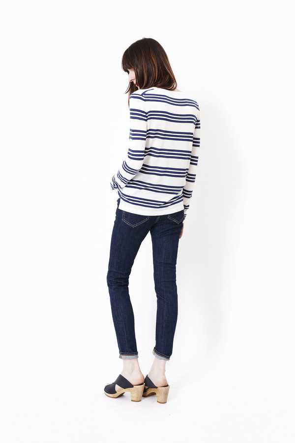 JENNI KAYNE Triple Striped Long Sleeve