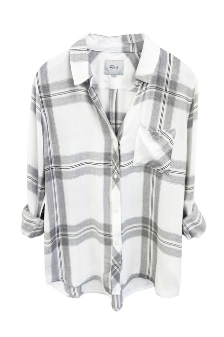 RAILS HUNTER BUTTON DOWN IN STERLING & WHITE