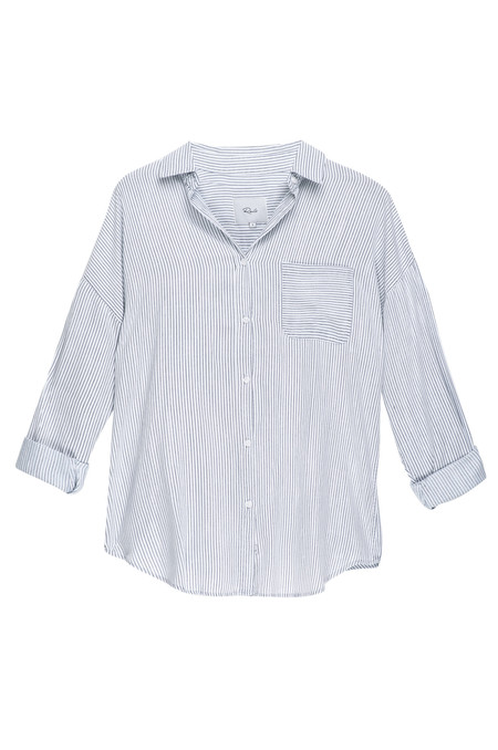 Rails Jackson Pinstripe Button Down in White