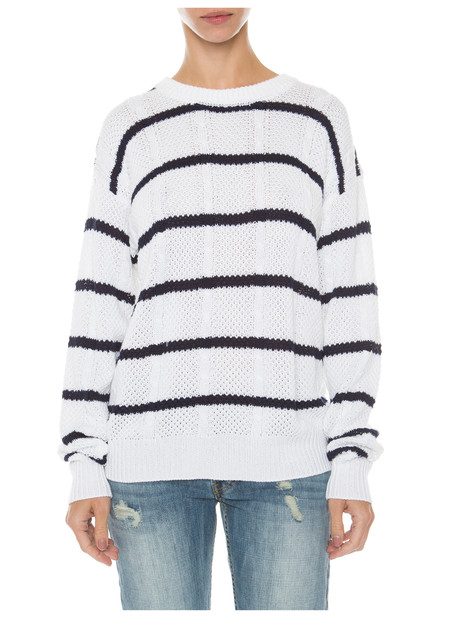 RAILS NATASHA STRIPED KNIT SWEATER IN WHITE & NAVY