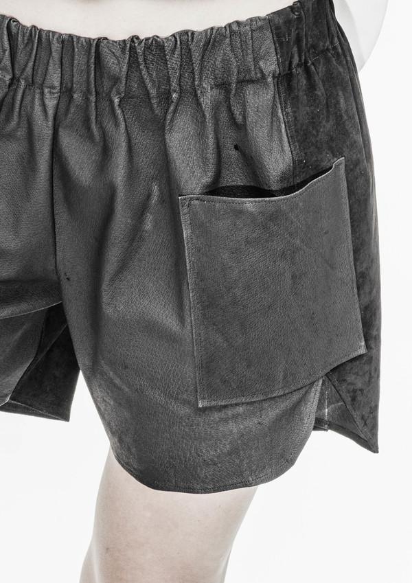 Berenik Shorts Real Leather Pig - Black