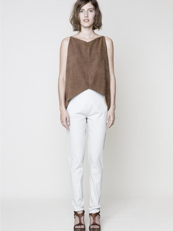 Berenik Skinny High Waist Stretch Trousers, Light Gray