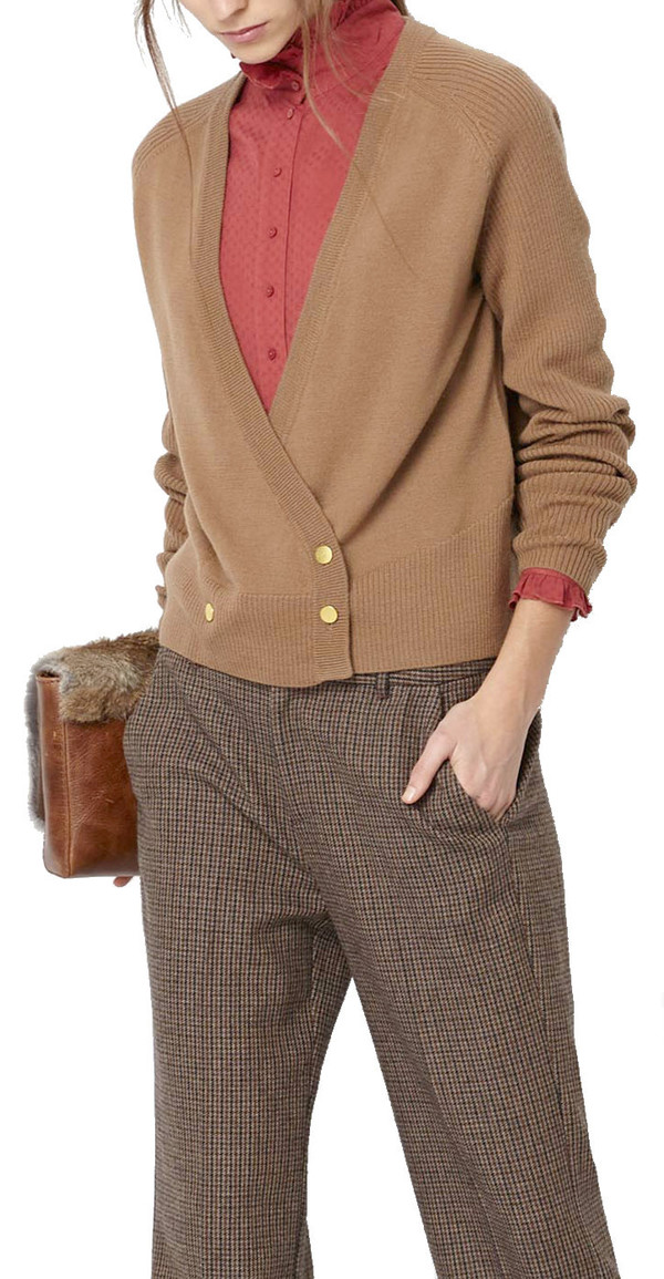 Hoss Intropia Wrap Button Cardigan