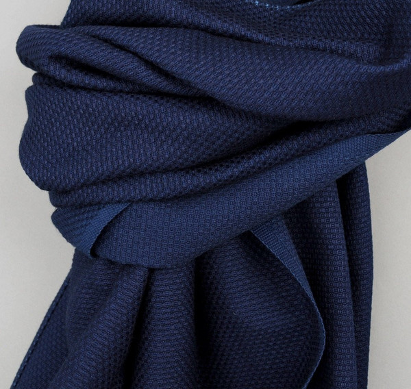 Men's The Hill-Side Scarf / Lightweight Indigo Sashiko