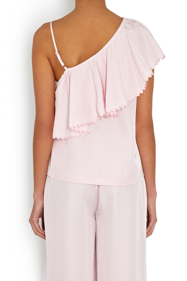 Rodebjer One-Shoulder Wep Top Frosty Pink