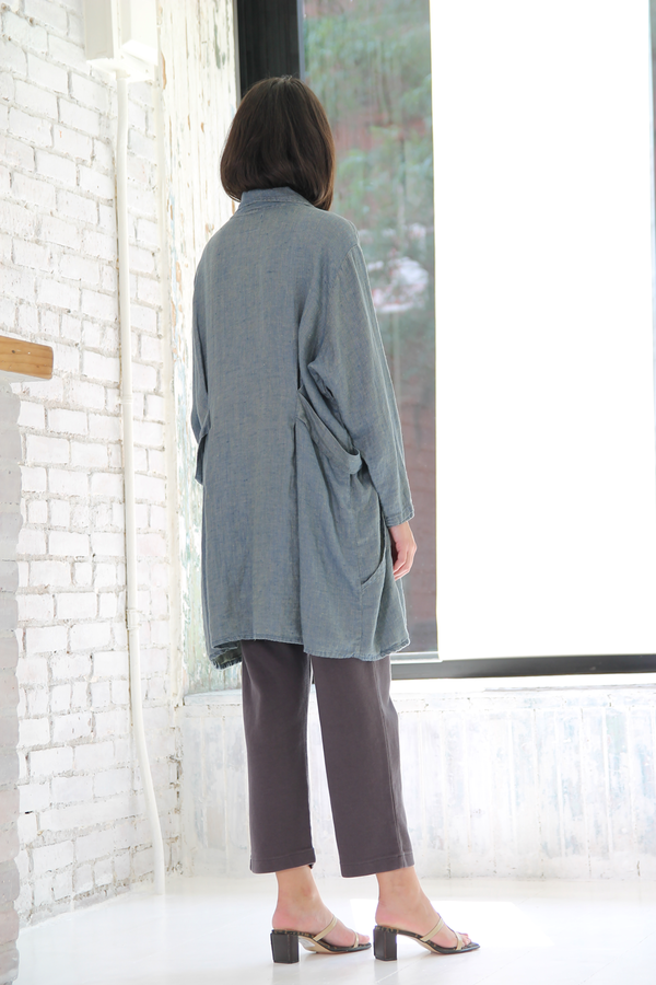 DUO NYC Vintage Linen Duster Jacket