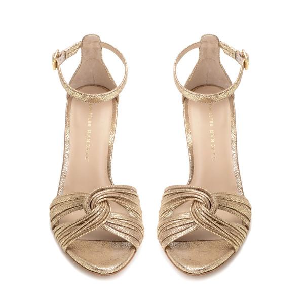Loeffler Randall Allegra Metallic Sandal Gold