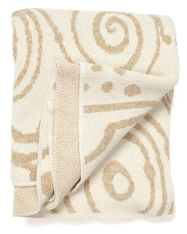 Aelfie Roswell Gold Throw Blanket