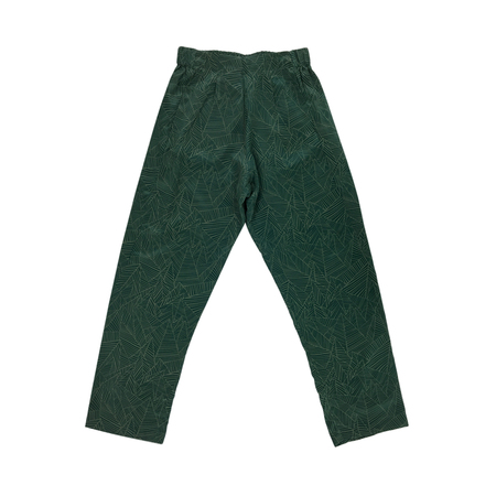 Ali Golden SILK ANKLE PANT - GREEN PRINT