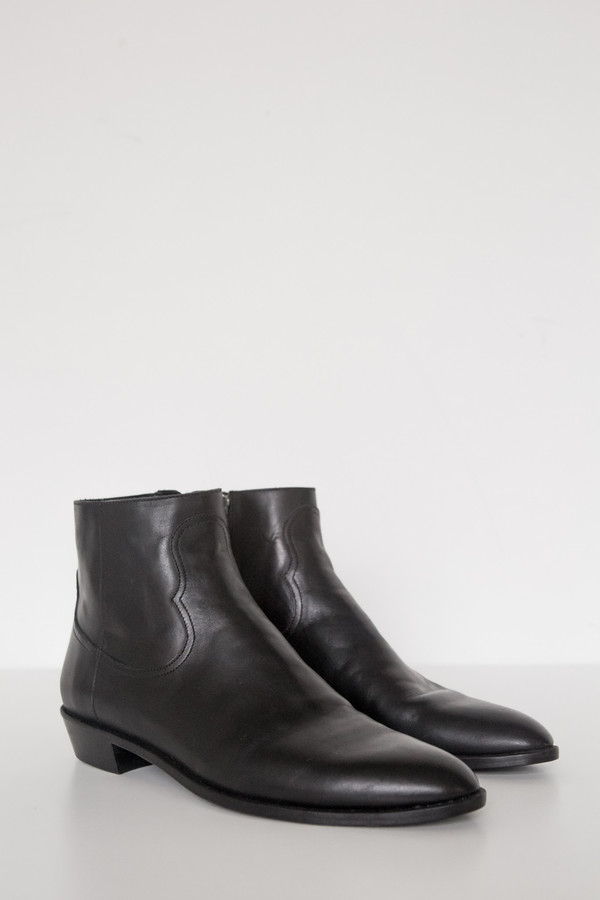 Assembly New York Leather Flat Boot
